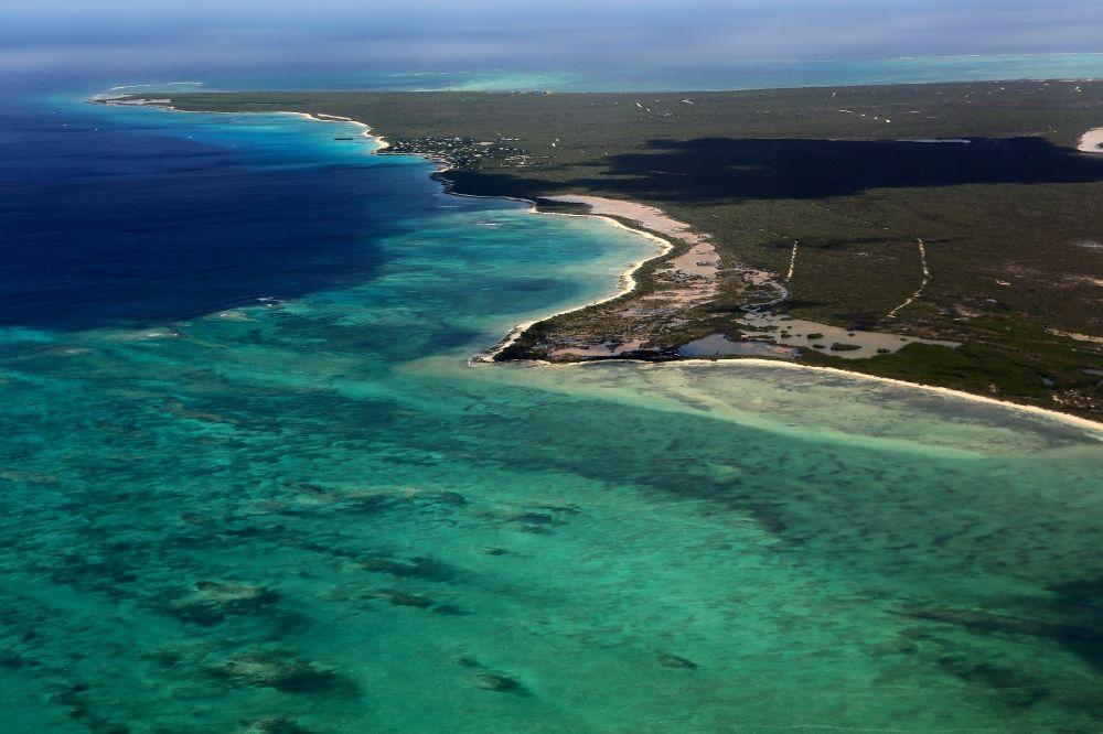 0c462d0fe41 Aerial photograph Cave Cay - Coastal Caribbean Pacific islands on the edge  of the North Atlantic Ocean ...