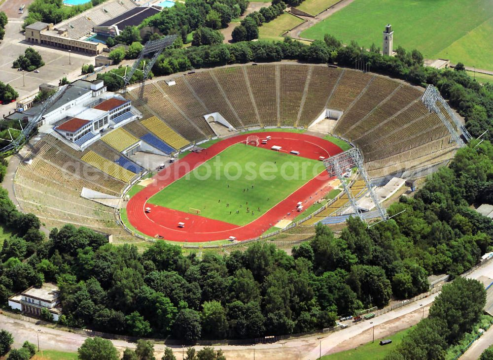 Aerial Image Leipzig The Old Leipzig Central Stadium The Forerunner Of Today S Red Bull Arena In