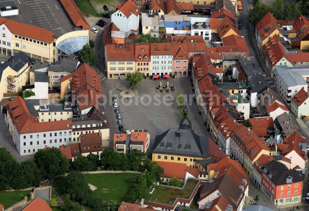 Apolda from the bird's eye view: The historic town hall of