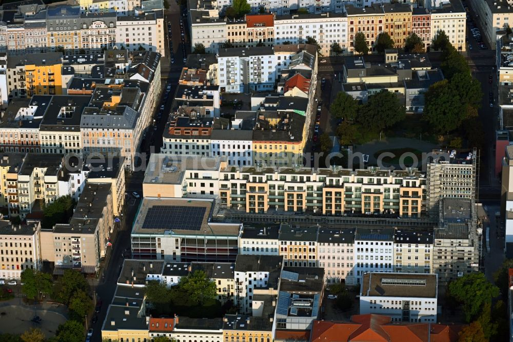 Aerial photograph Magdeburg - Build a new multi-family residential complex Breiter Weg - Danzstrasse in Magdeburg in the state Saxony-Anhalt, Germany