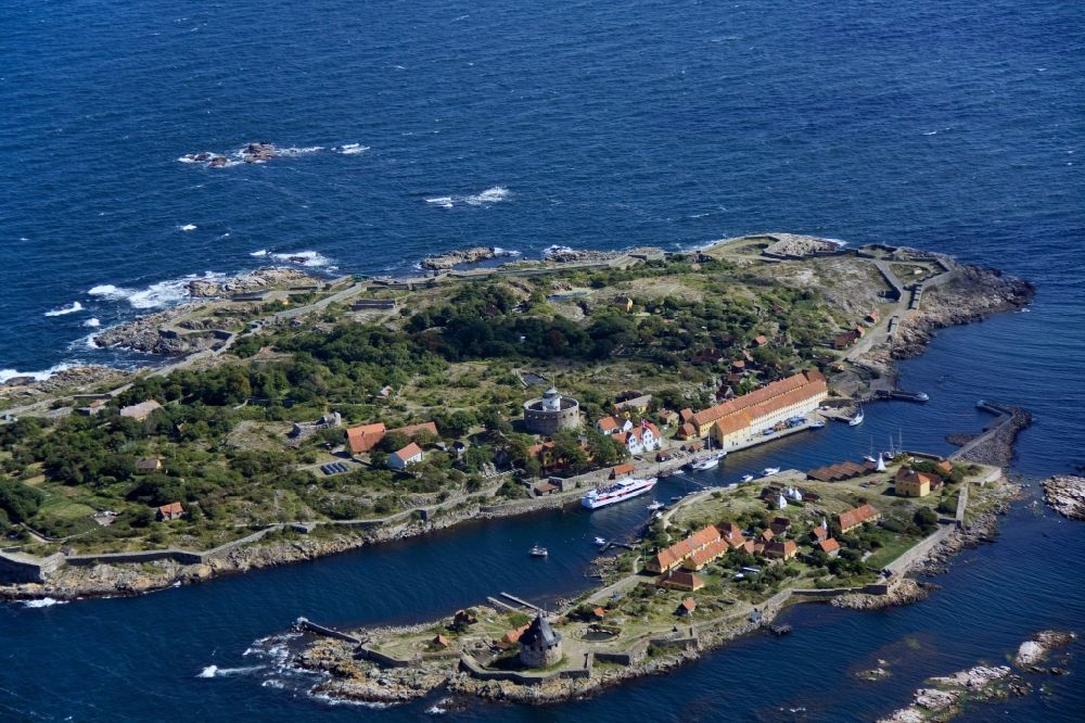 Aerial photograph Christianso - Natural harbor between the
