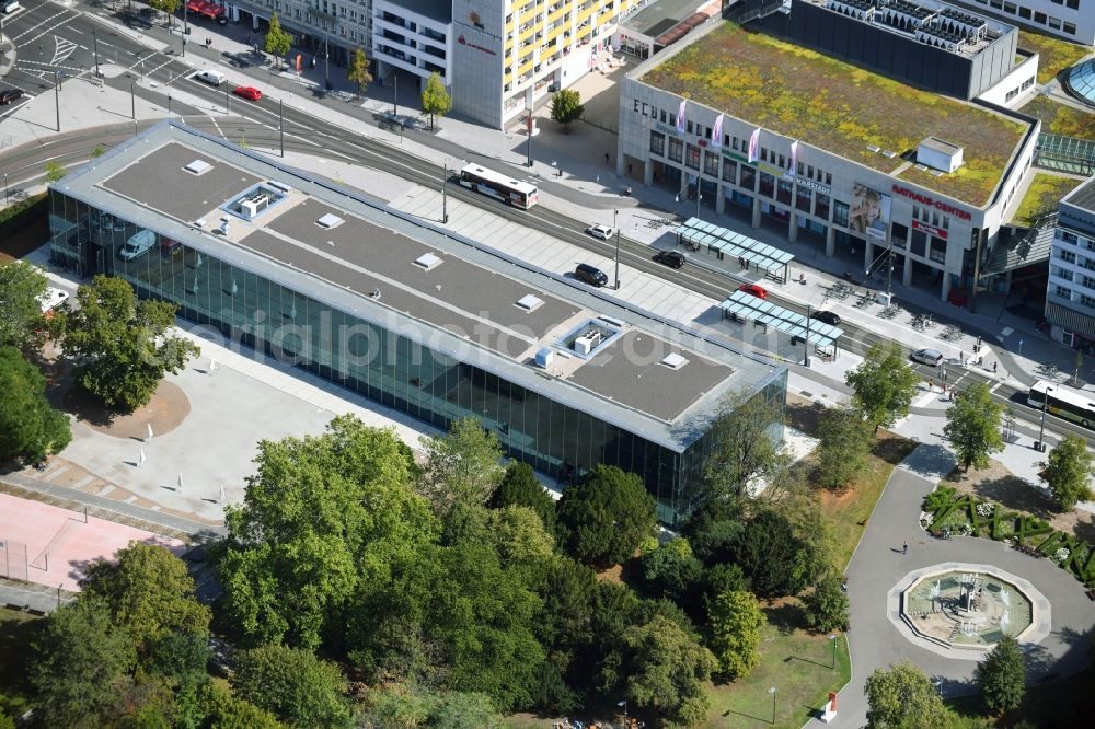 Dessau from above - Building Bauhaus-Museum on Kavalierstrasse corner Friedrichstrasse in Dessau in the state Saxony-Anhalt, Germany