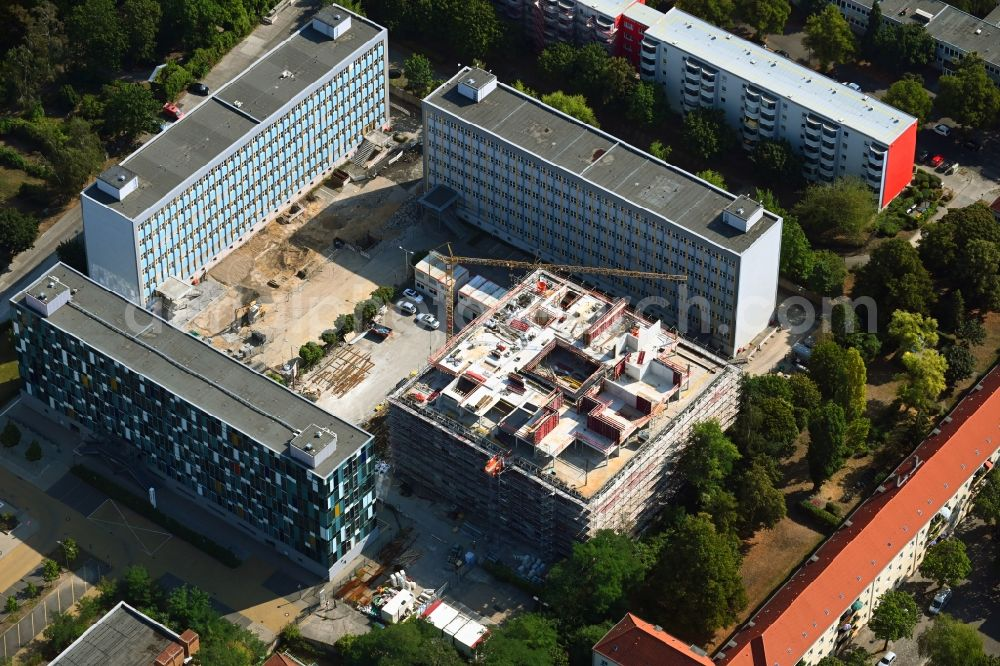 Aerial image Berlin - New construction site Administrative buildings of the state authority Bundesverwaltungsamt on Gotlindestrasse in the district Lichtenberg in Berlin, Germany
