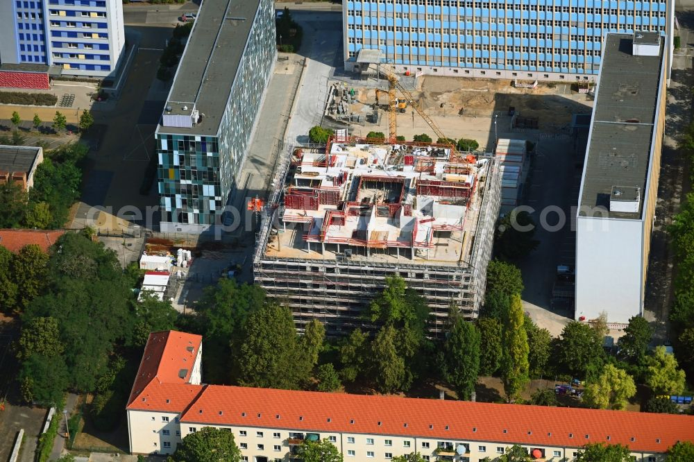 Berlin from the bird's eye view: New construction site Administrative buildings of the state authority Bundesverwaltungsamt on Gotlindestrasse in the district Lichtenberg in Berlin, Germany