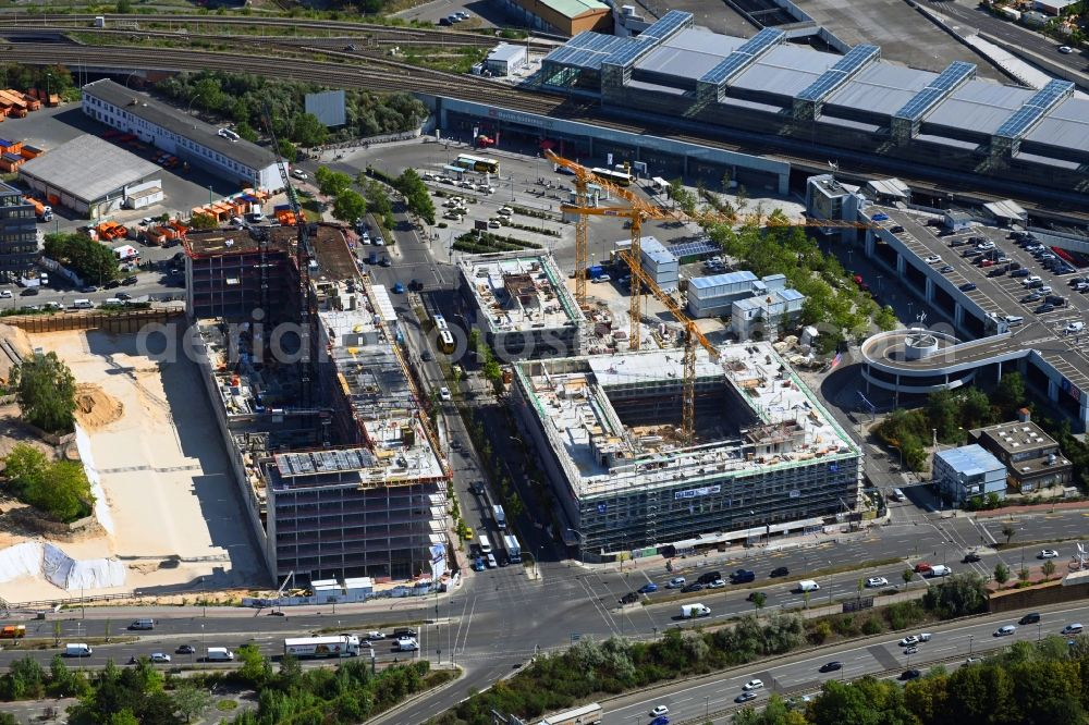 Berlin from the bird's eye view: New construction of an office and commercial building ensemble of the LIP - Ludger Inholte Projektentwicklung in the district of Schoeneberg in Berlin, Germany