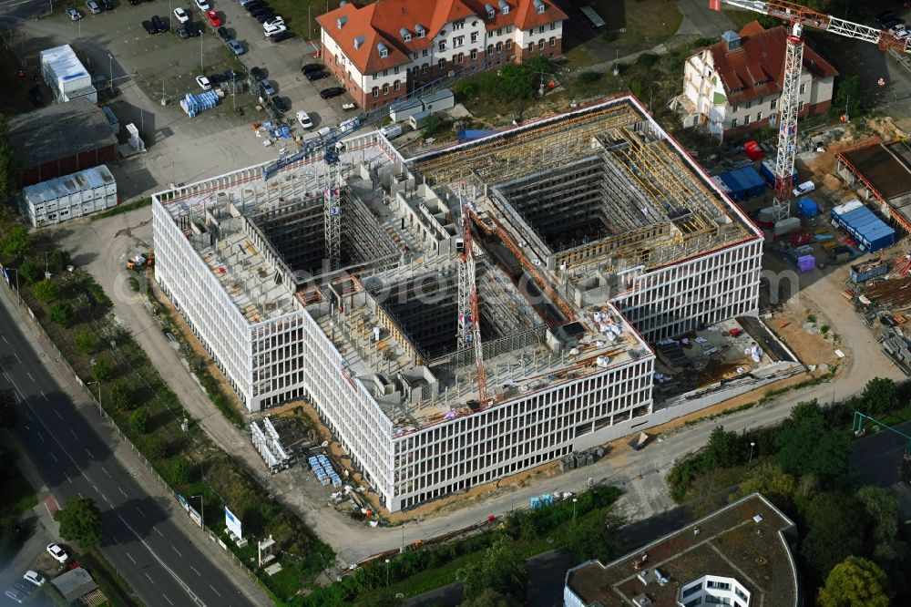 Potsdam from the bird's eye view: New construction of the Federal Police Headquarters on Horstweg in Potsdam in the state of Brandenburg, Germany