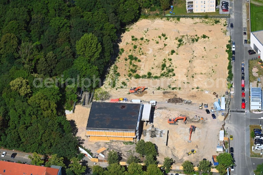 Aerial image Potsdam - Construction site of museum building ensemble on Max-Planck-Strasse in the district Suedliche Innenstadt in Potsdam in the state Brandenburg, Germany