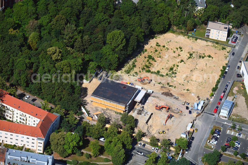Aerial photograph Potsdam - Construction site of museum building ensemble on Max-Planck-Strasse in the district Suedliche Innenstadt in Potsdam in the state Brandenburg, Germany