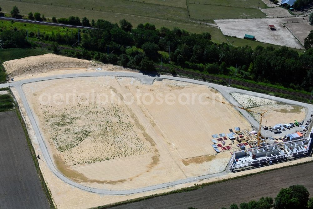 Aerial photograph Bergfelde - Construction of new Ensemble of sports grounds Sportpark Bergfelde on Fasanenallee in Bergfelde in the state Brandenburg, Germany