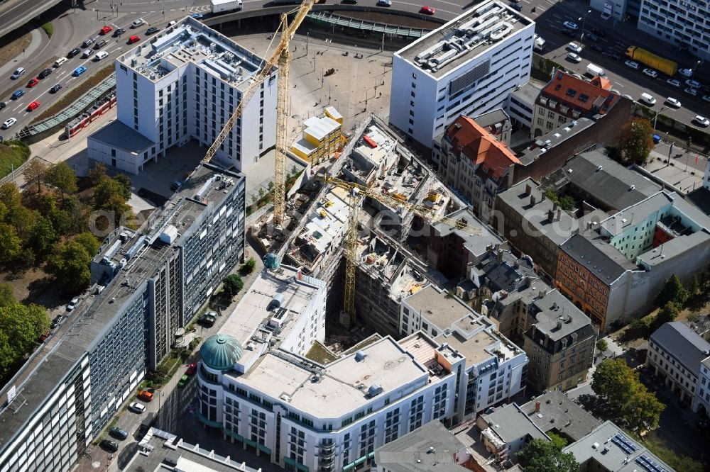 Halle (Saale) from above - New residential and commercial building Quarter Dorotheenstrasse - Marienstrasse - Roeserstrasse - Martinstrasse in the district Noerdliche Innenstadt in Halle (Saale) in the state Saxony-Anhalt, Germany