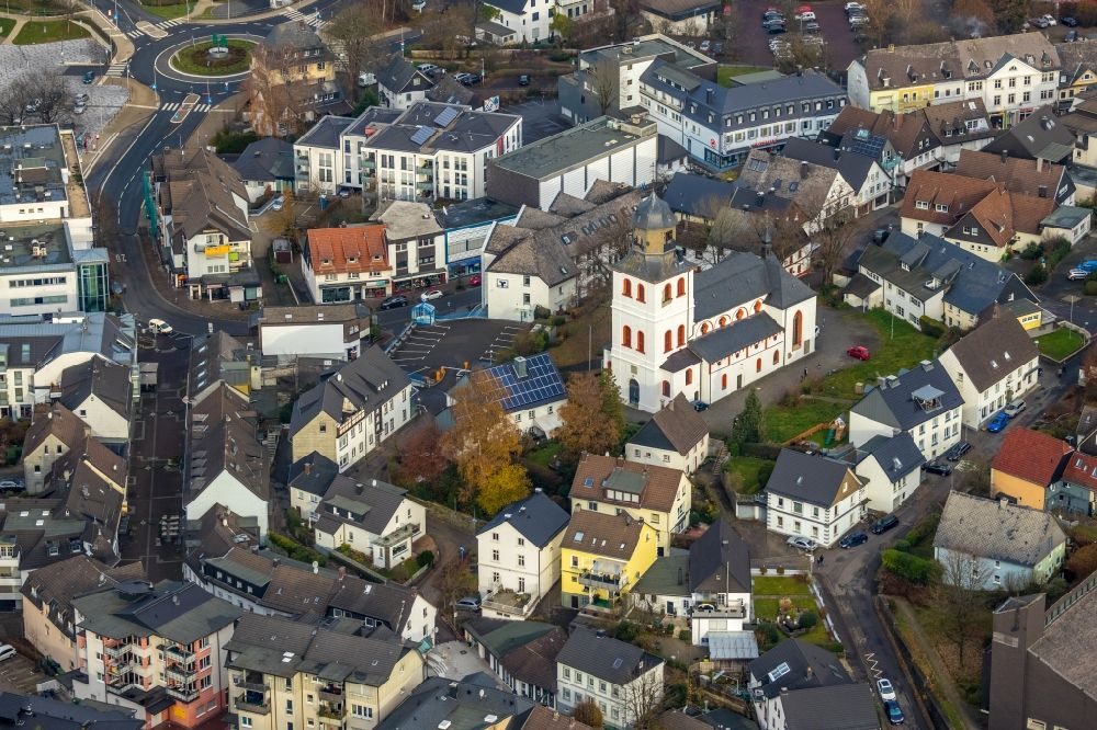 Aerial photograph Meinerzhagen - Town View of the streets and houses of the residential areas in Meinerzhagen in the state North Rhine-Westphalia, Germany.