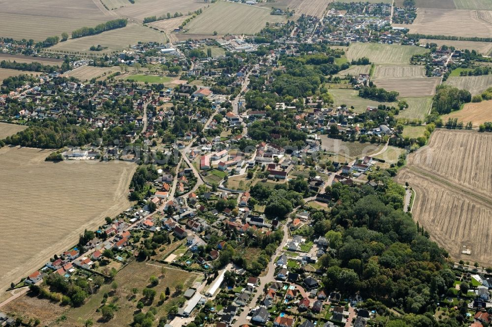 Aerial image Halle (Saale) - Town View of the streets and houses of the residential areas in the district Reideburg in Halle (Saale) in the state Saxony-Anhalt, Germany