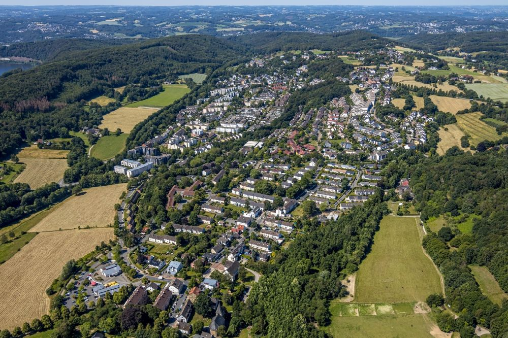 Aerial image Herdecke - Town View of the streets and houses of the residential areas in the district Westende in Herdecke in the state North Rhine-Westphalia, Germany