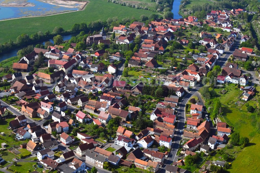 Aerial photograph Werra-Suhl-Tal - Town View of the streets and houses of the residential areas in Werra-Suhl-Tal in the state Thuringia, Germany