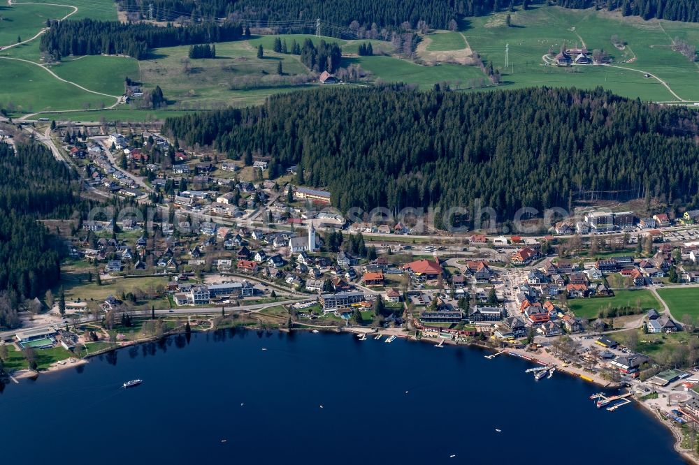 Titisee Neustadt From Above Village On The Banks Of The Area Titisee In Titisee Neustadt In