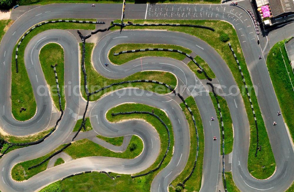 Aerial image Schaafheim - Outdoor Go Kart track Odenwaldring in ...