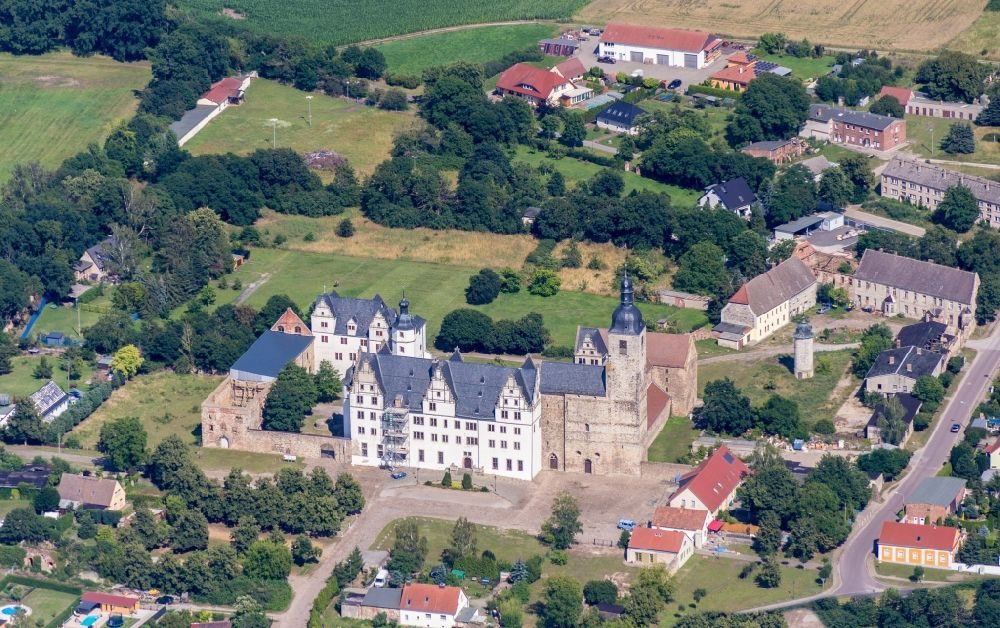 Aerial image Gommern - Palace in Gommern in the state Saxony-Anhalt, Germany