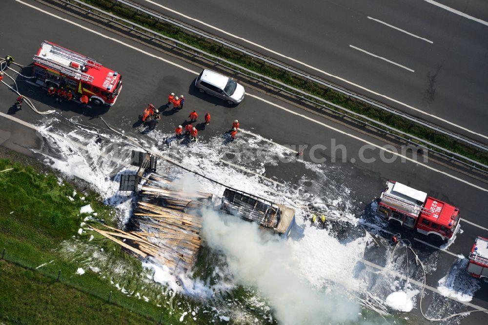 Aerial photograph Hollenstedt - Foam carpet-fighting