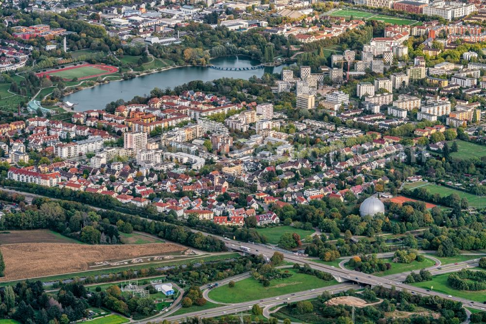 Aerial image Betzenhausen - The district Betzenhausen in Betzenhausen in the state Baden-Wuerttemberg, Germany