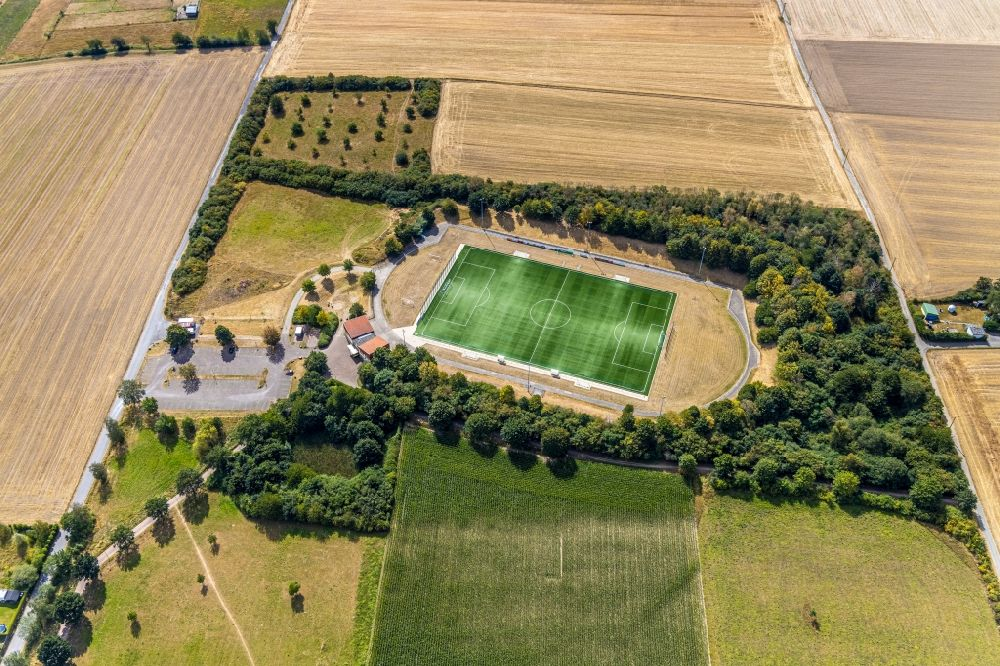 Aerial image Menden (Sauerland) - Sports grounds and football pitch Hembrock in Menden (Sauerland) in the state North Rhine-Westphalia