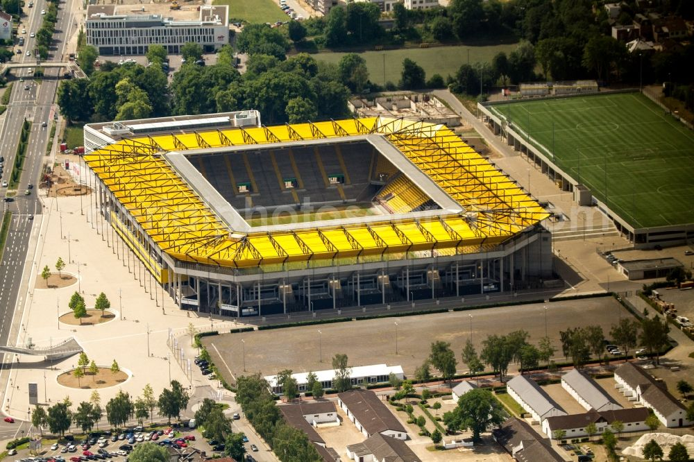Aerial image Aachen - Sports facility grounds of the Arena stadium in Aachen in the state North Rhine-Westphalia