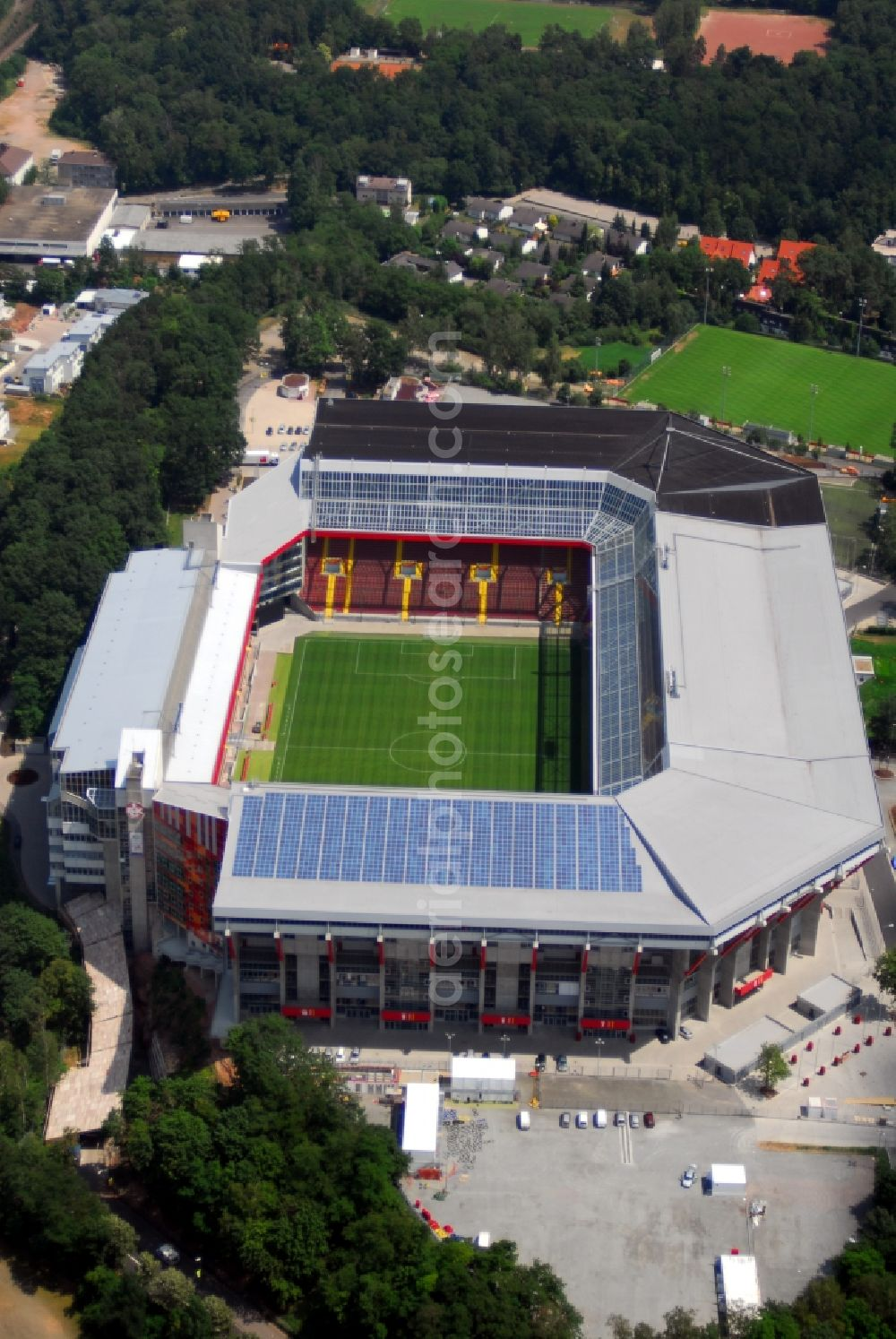Kaiserslautern From Above Sports Facility Grounds Of The Arena