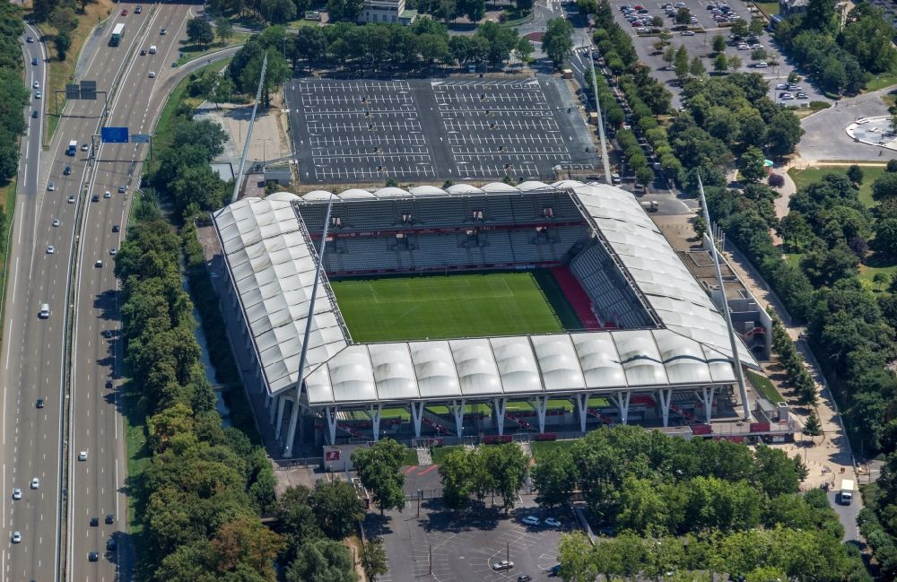Reims from the bird 39 s eye view sports facility grounds of - Piscine auguste delaune venissieux ...