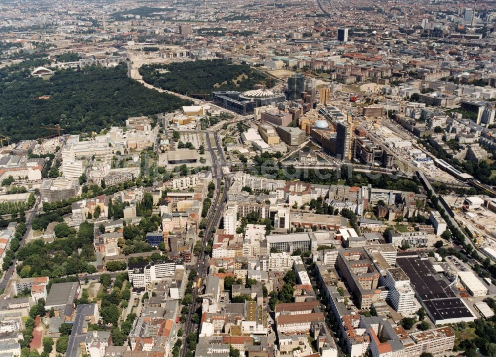 Aerial image Berlin - City view on down town in the district Kreuzberg in Berlin, Germany.