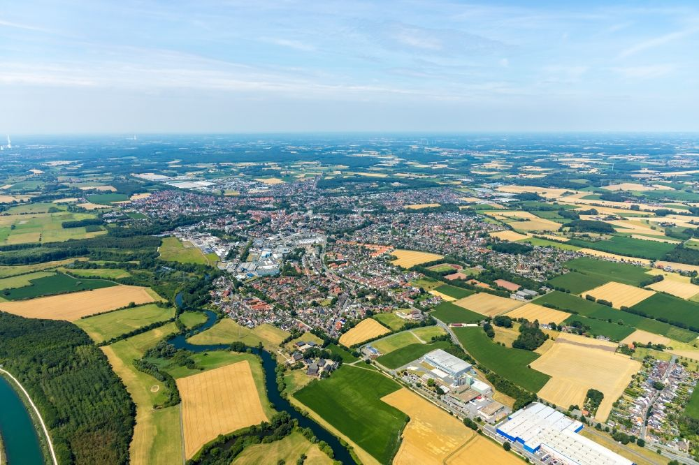 Werne from the bird's eye view: City view on down town in Werne in the state North Rhine-Westphalia, Germany.