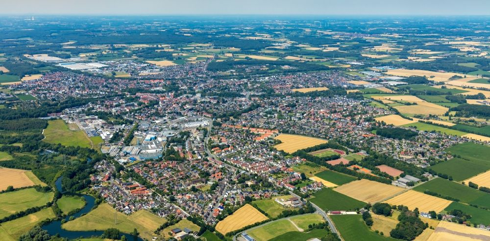 Aerial image Werne - City view on down town in Werne in the state North Rhine-Westphalia, Germany.