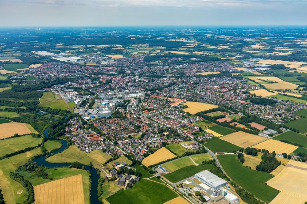 Aerial photograph Werne - City view on down town in Werne in the state North Rhine-Westphalia, Germany.