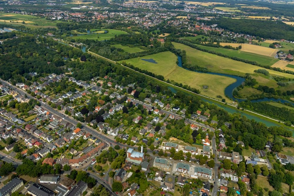 Aerial image Hamm - Outskirts residential in the district Norddinker in Hamm in the state North Rhine-Westphalia, Germany.