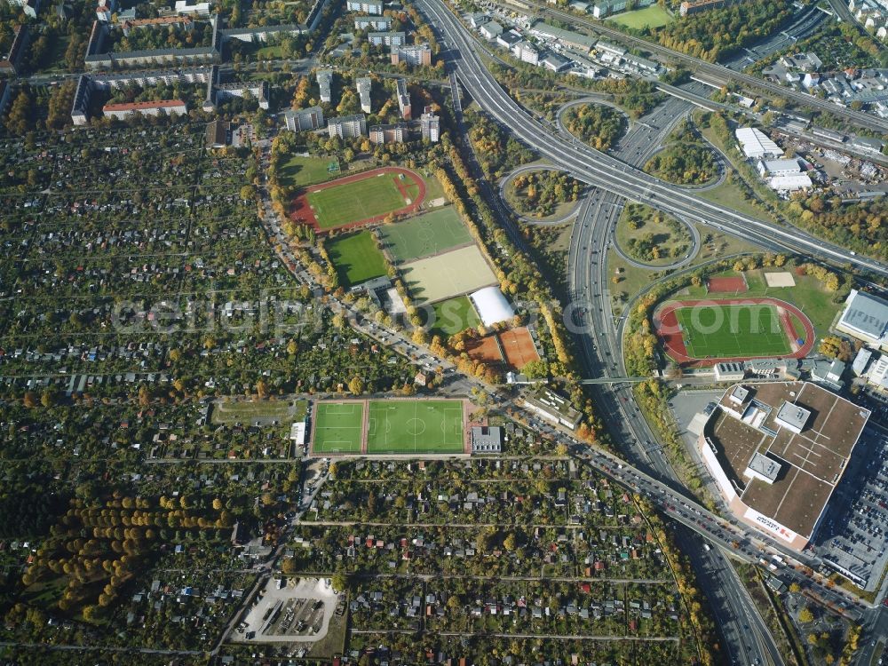 Berlin From Above District Schoeneberg With A Branch Of The