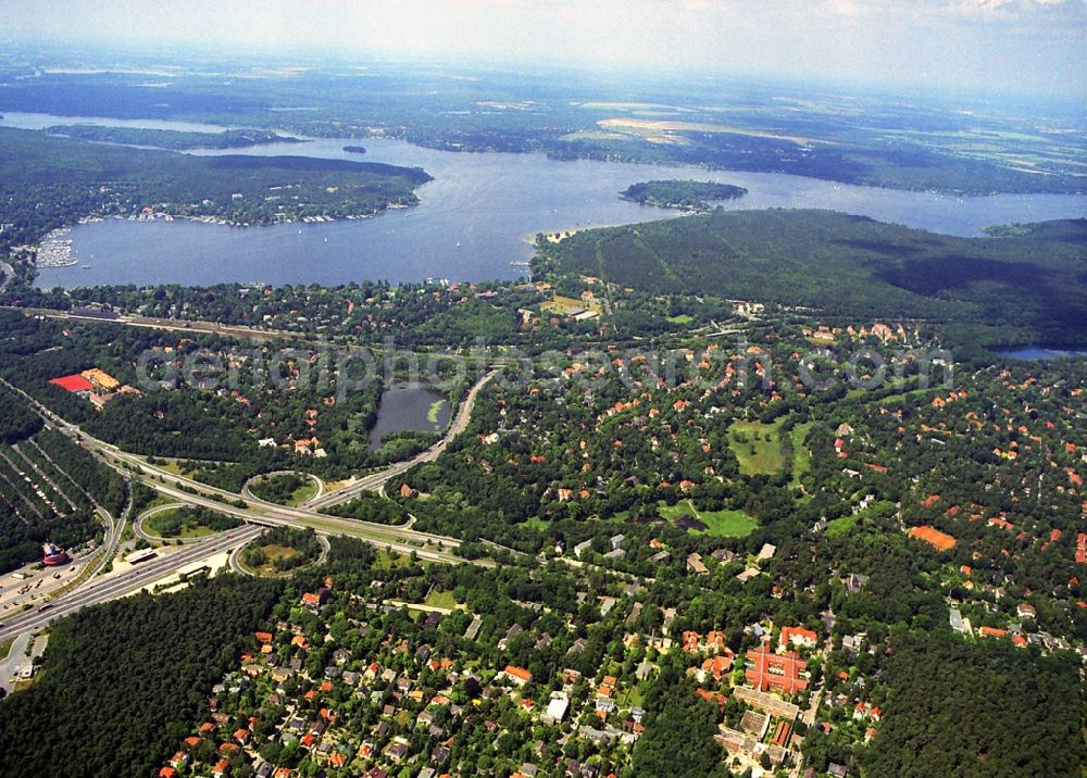Aerial photograph Berlin - Cityscape of the district Berlin-Nikolassee