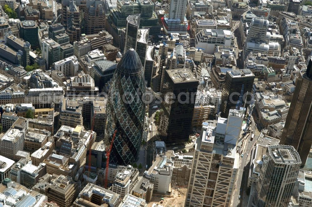 Aerial image London - The city center in the downtown area in the district City of London in London in England, United Kingdom