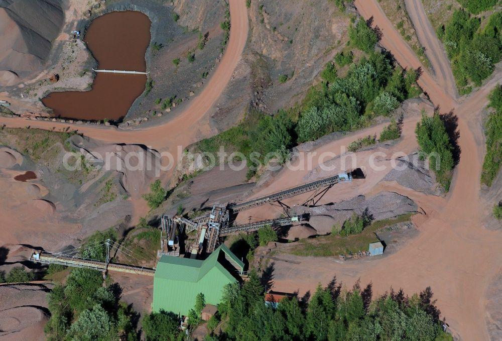 Aerial Photograph Tabarz Quarry The Stone Work Tabarz Fritz