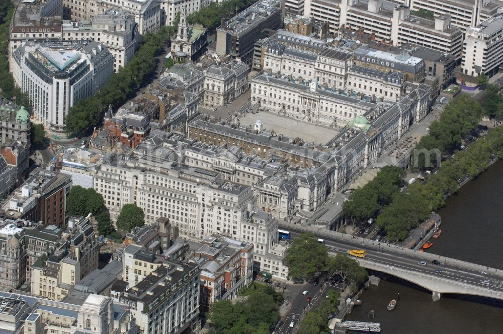 London From Above View Of Summerset House And Waterloo