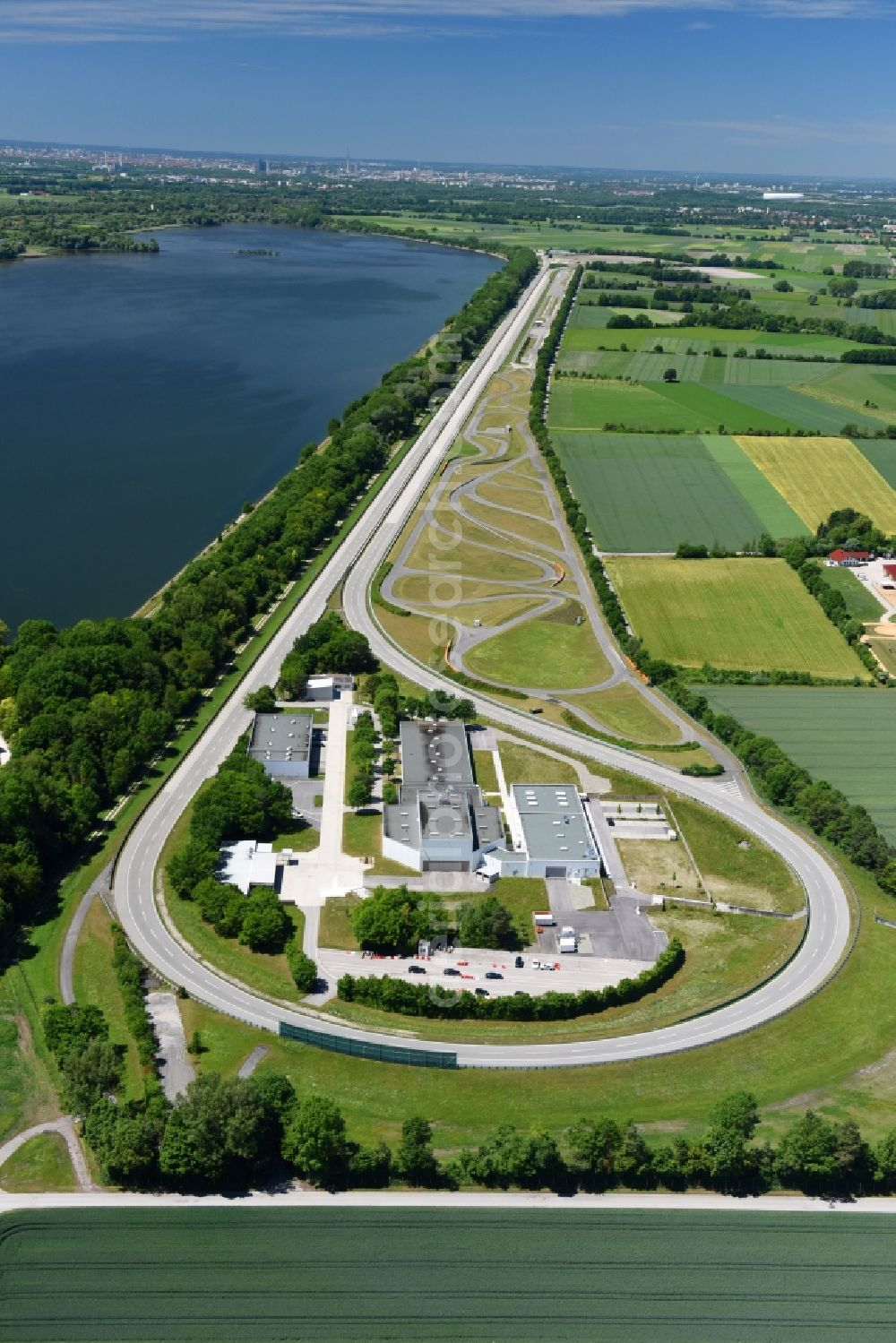 Aerial Image Aschheim Test Track And Practise Place On The Bmw Measuring Area In