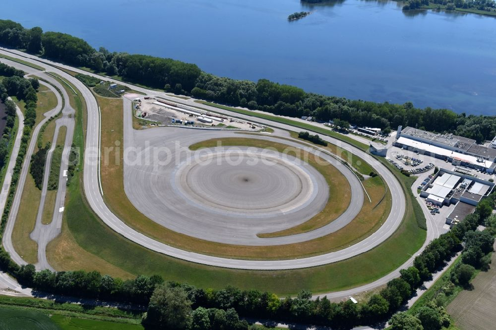 Aerial Photograph Aschheim Test Track And Practise Place On The Bmw Measuring Area In