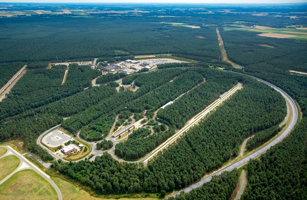Wittingen From Above Test Track And Practice Area For Training In The Driving Safety Center Volkswagen