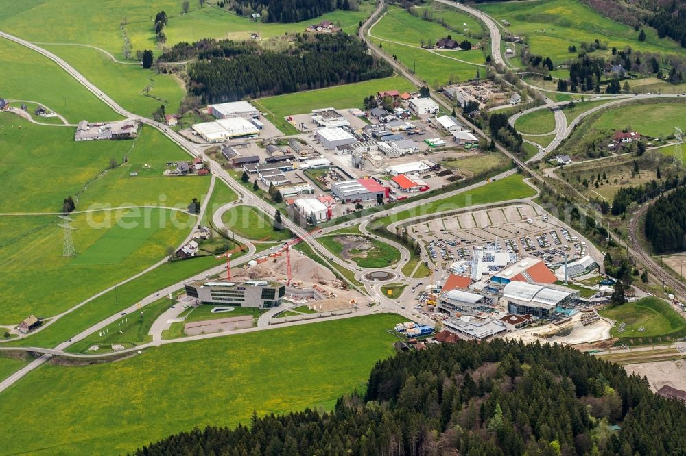 Titisee Neustadt From Above Spa And Swimming Pools At The Swimming Pool Of The Leisure Facility