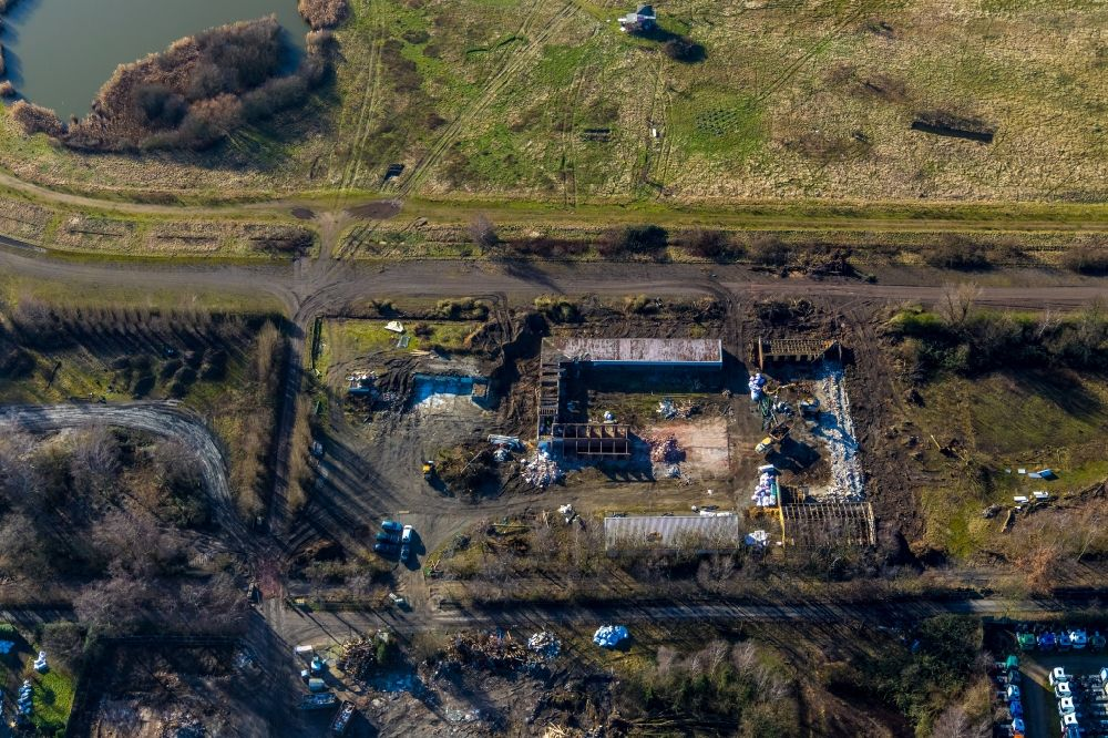 Aerial photograph Recklinghausen - Development, demolition and renovation work on the site of the former racetrack - Trabrennbahn in Recklinghausen in the state North Rhine-Westphalia, Germany