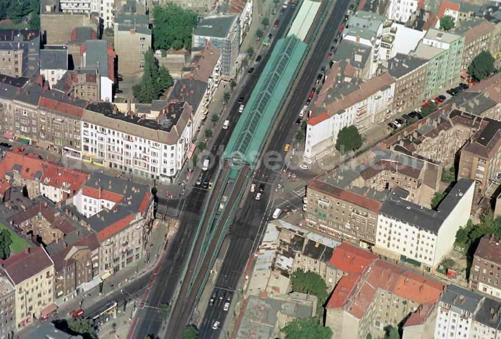 Aerial Image Berlin The Traffic Junction Intersection Schoenhauser