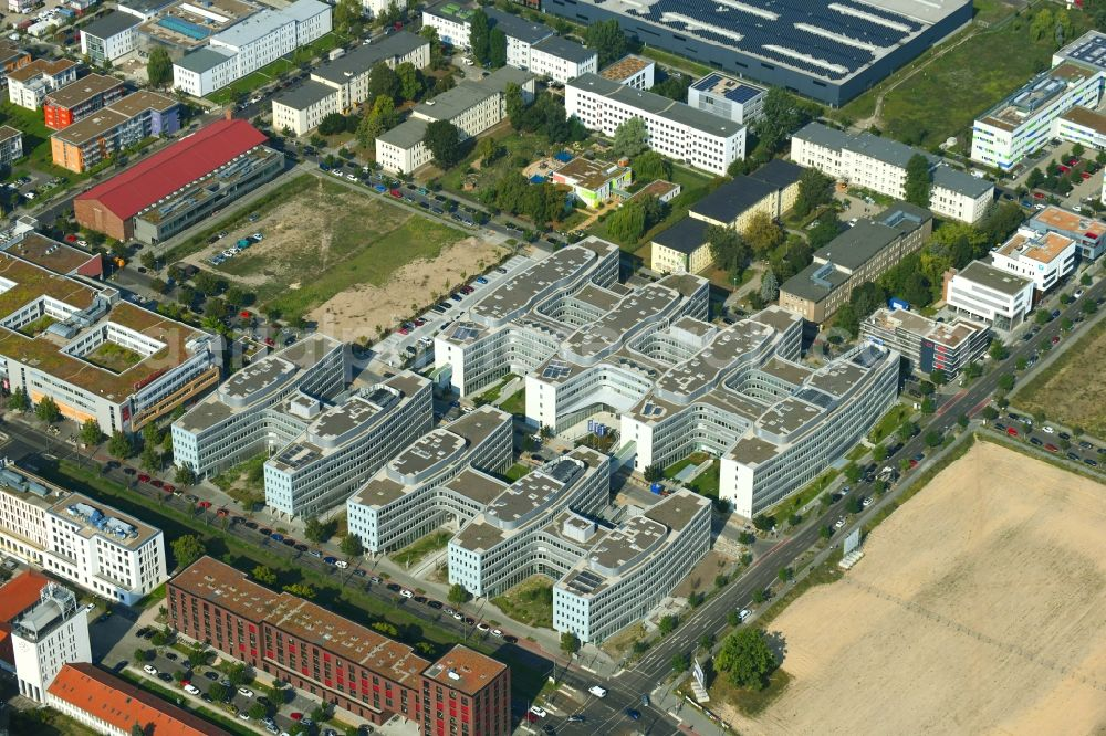 Aerial image Berlin - Office and administration buildings of the insurance company Allianz Campus Berlin in the district Adlershof in Berlin, Germany