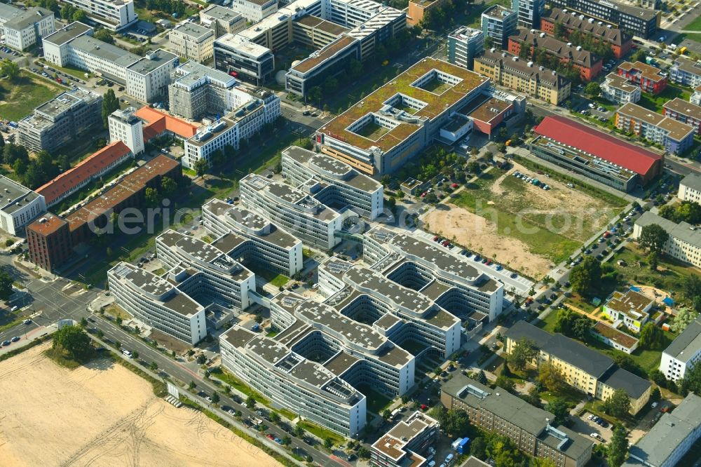 Aerial photograph Berlin - Office and administration buildings of the insurance company Allianz Campus Berlin in the district Adlershof in Berlin, Germany