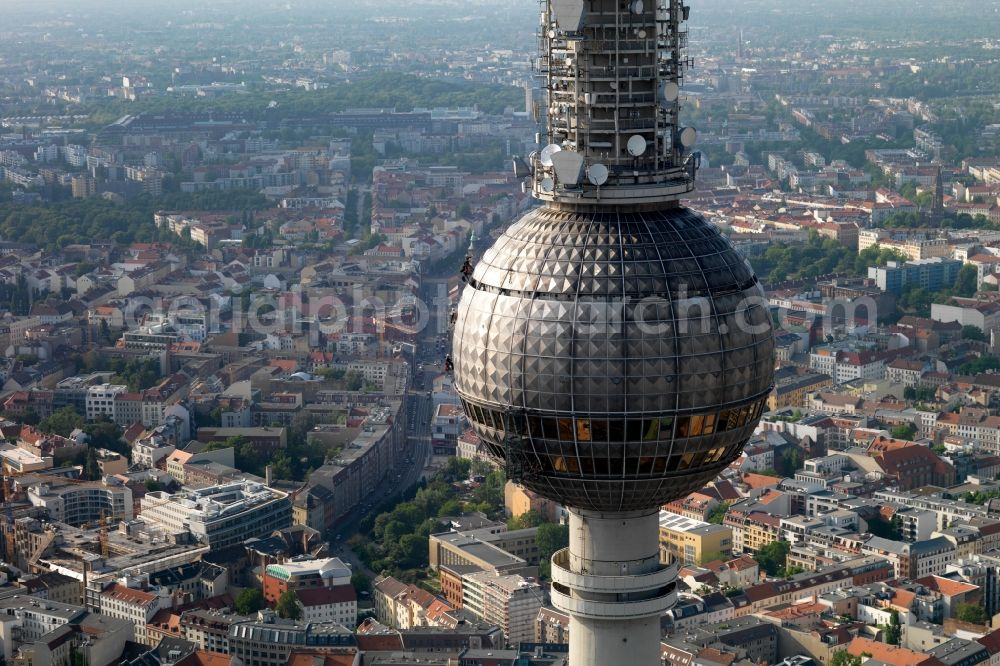 Berlin from the bird's eye view: Television Tower in the district Mitte in Berlin, Germany