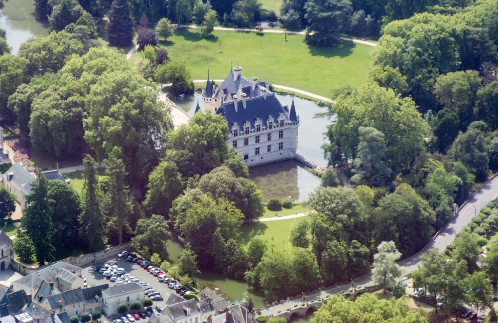 Aerial Image Azay Le Rideau Building And Castle Park Systems Of