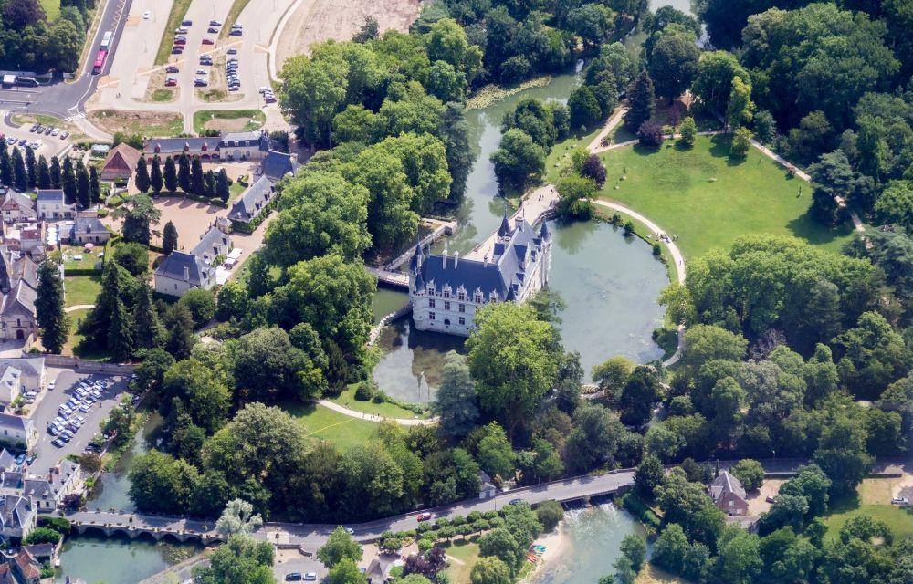 Aerial Photograph Azay Le Rideau Building And Castle Park Systems