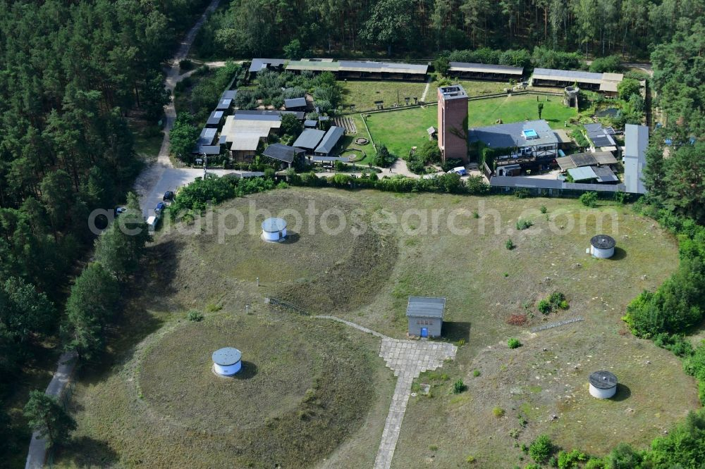 Aerial photograph Potsdam - Waterworks - ground storage facility in the district Forst Potsdam Sued in Potsdam in the state Brandenburg, Germany