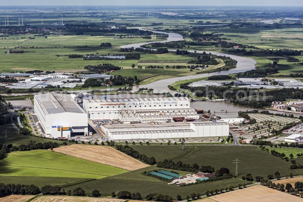 Aerial Image Papenburg Shipyard Site Of The Meyer Werft In